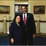 Karen with President Obama