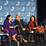 "Talking about media with journalist Jeff Yang, Professor Shilpa Davé and Victor Jih, 2009 co-winner of ""The Amazing Race"""