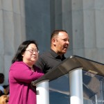 Speaking at Lincoln Memorial rally with Marc Moriel, NUL