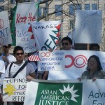 At Immigration Rally in D.C.