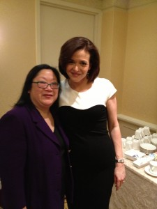 With Sheryl Sandberg, author of Lean In